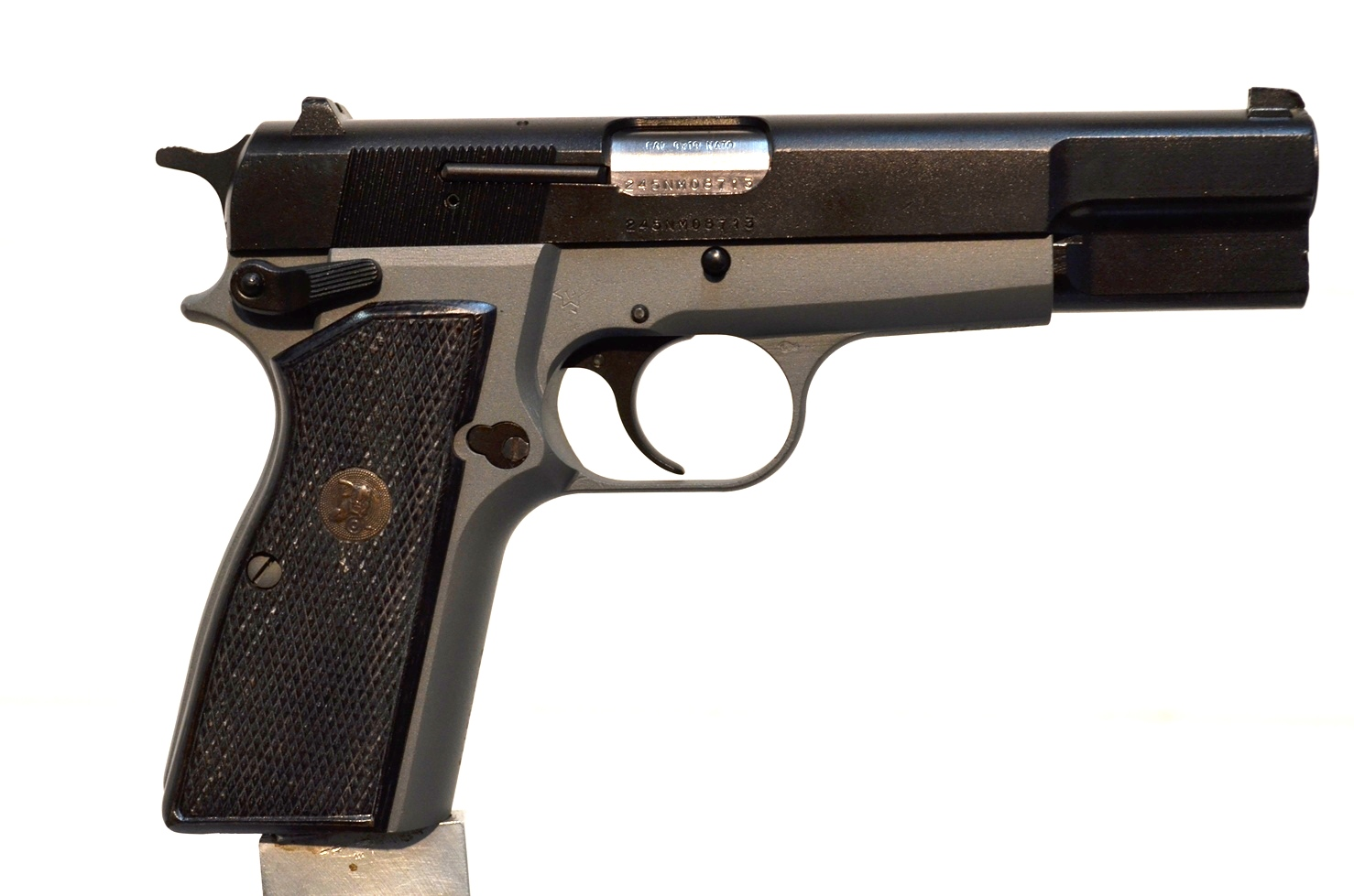 FN Browning Hi Power 9mm Custom Refinished # 245NM08713